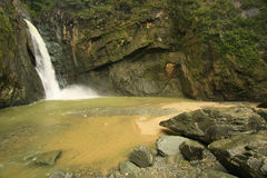 Salto Jimenoa Uno waterfall, Jarabacoa Royalty Free Stock Photos