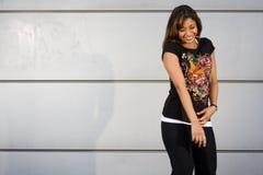 Salto joven de la cadera del baile del adolescente Fotografía de archivo libre de regalías