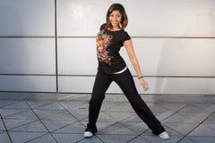 Salto joven de la cadera del baile del adolescente Fotografía de archivo
