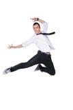 Salto joven del bailarín Imagenes de archivo