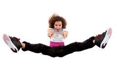 Salto joven del bailarín Imagen de archivo libre de regalías