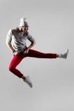 Salto joven del bailarín Imagen de archivo