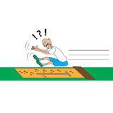 Salto longo do atletismo Imagens de Stock Royalty Free