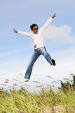 Salto maschio Fotografie Stock
