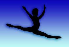 Salto maschio del danzatore illustrazione di stock