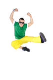 Salto masculino del bailarín Fotografía de archivo