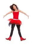 Salto moderno da bailarina foto de stock royalty free