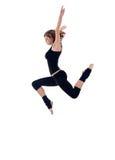 Salto moderno del bailarín fotos de archivo
