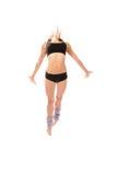Salto moderno del danzatore della donna di stile di jazz Fotografia Stock Libera da Diritti
