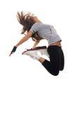Salto moderno del danzatore di stile Fotografie Stock Libere da Diritti
