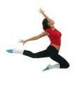 Salto moderno del danzatore di stile Fotografie Stock