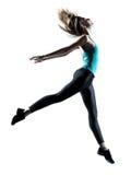 Salto moderno del danzatore di stile Immagine Stock