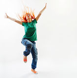 Salto moderno del danzatore di stile Immagine Stock Libera da Diritti