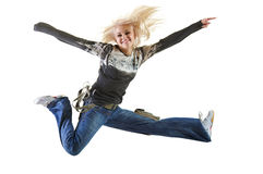 Salto molto alto di rivestimento Fotografia Stock