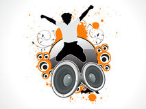 Salto musical abstrato em um som ilustração royalty free