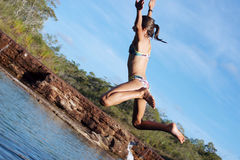 Salto na água Imagem de Stock Royalty Free