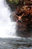 Salto no parque nacional de Litchfield Imagens de Stock