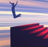 Salto para a alegria Foto de Stock