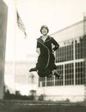 Salto para la alegría Fotos de archivo libres de regalías