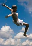 Salto piacevole fotografia stock libera da diritti