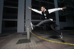 Salto sobre obstáculos Imagen de archivo