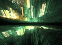 Salto temporal abstrato, viajando no espaço Fotografia de Stock