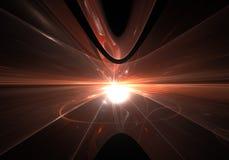 Salto temporal abstrato, viajando no espaço Imagem de Stock