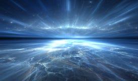 Salto temporal, viajando no espaço Imagem de Stock