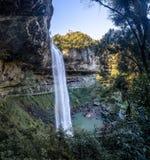 Salto Ventoso瀑布- Farroupilha,南里奥格兰德州,巴西 免版税库存图片