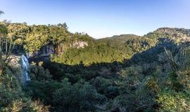 Salto Ventoso vattenfall - Farroupilha, Rio Grande gör Sul, Brasilien royaltyfri foto