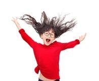 Salto y risa fotografía de archivo libre de regalías