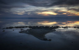 Salton Sea. India island formation at Salton Sea, California, USA Royalty Free Stock Photo