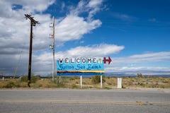 Salton Sea Beach, CA - March 21, 2019: Welcome sign to Salton Sea Beach, a small town located on the shores of the Salton Sea in