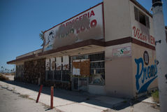 Salton Sea empty convenience store. An abandoned convenience store in the low desert area of California Stock Image