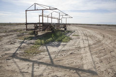 Salton Sea Frame on Wheels Stock Photos