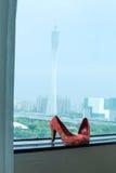 Saltos altos com cores clássicas chinesas Fotografia de Stock Royalty Free