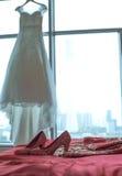 Saltos altos com cores clássicas chinesas Foto de Stock
