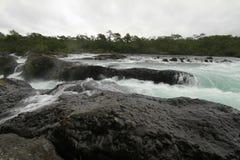 Saltos de petrohue, cascades de petrohue Images stock