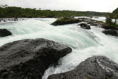 Saltos de petrohue, Waterfalls of petrohue Stock Photo
