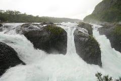 Saltos DE petrohue, Watervallen van petrohue Stock Foto's