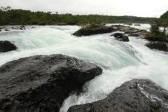 Saltos DE petrohue, Watervallen van petrohue Stock Foto
