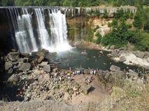 Saltos del Laja, Los Angeles, Bio Bio Region, Chile. There are four waterfalls of the La Laja River, located in the Biobío Region. It is located 25 km north of Stock Image