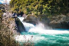 Saltos del Petrohue Waterfalls - Los Lagos Region, Chile. Saltos del Petrohue Waterfalls in Los Lagos Region, Chile stock photo