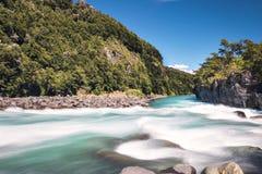 Saltos del Petrohue Waterfalls - Los Lagos Region, Chile. Saltos del Petrohue Waterfalls in Los Lagos Region, Chile royalty free stock image