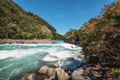 Saltos del Petrohue Waterfalls - Los Lagos Region, Chile. Saltos del Petrohue Waterfalls in Los Lagos Region, Chile stock images
