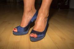 Saltos elevados azuis Foto de Stock Royalty Free