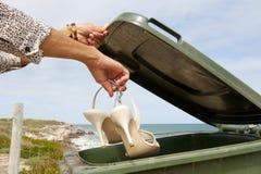 Saltos elevados ou saúde: Recicl o escaninho foto de stock