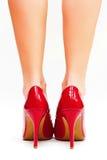 Saltos elevados vermelhos Imagem de Stock