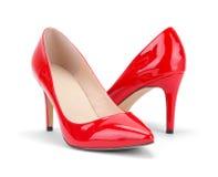 Saltos elevados vermelhos Fotos de Stock