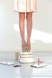 Saltos em livros Foto de Stock